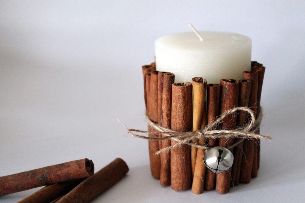 Diy Kerze Mit Zimtstangen Einfach Selber Machen Diy Kerzen Zimtstangen Kerzen