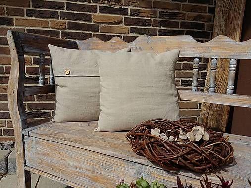 Linen pillows by shabby.romantic / Vankúš Pure Linen