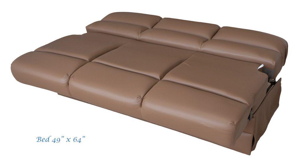 Flexsteel Donner RV Sofa. Model 4075G 64EB Easy Bed. Bed Open Is 49