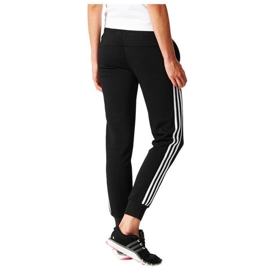 Details About Adidas Essentials 3 Stripe Pants Womens Jogging Trousers Gym Sweatpant Black Show Original Title Pants For Women Sweatpants Casual Chic Style