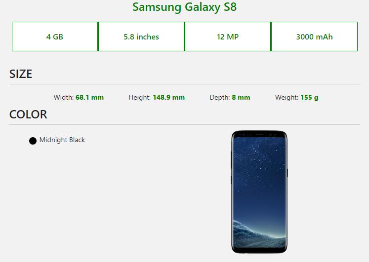 Samsung Galaxy S8 Samsung Galaxy Samsung Galaxy S8