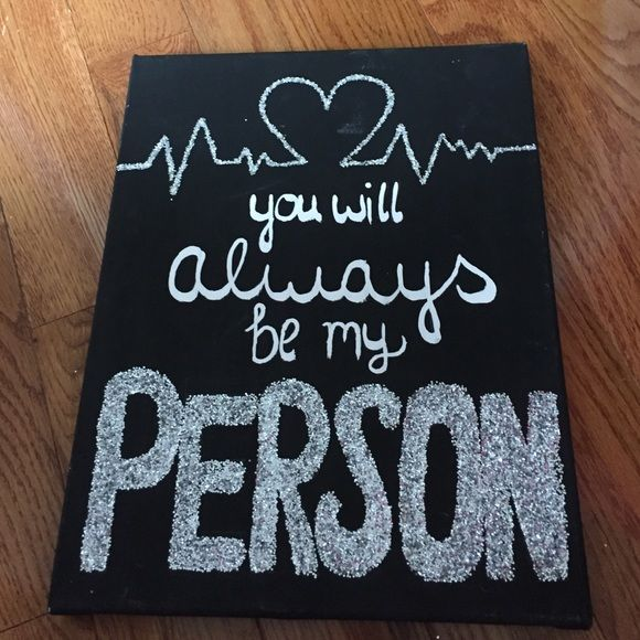 my person canvas greys anatomy my person greys anatomy canvas other diy christmas gifts. Black Bedroom Furniture Sets. Home Design Ideas