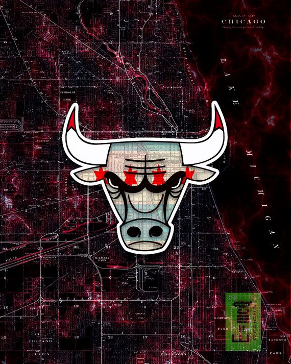 202bb3440d Chicago Bulls Handmade Digital Scanned Print. Proudly display your love of  the Chicago Bulls with this unique hand made print. Guaranteed to be a big