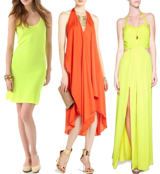 Neon Summer Dresses Fashion Pinterest