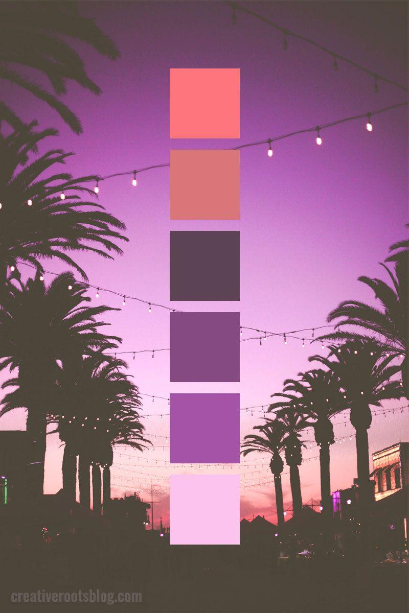 Purple Sunset Color Palette Idea and Inspiration images
