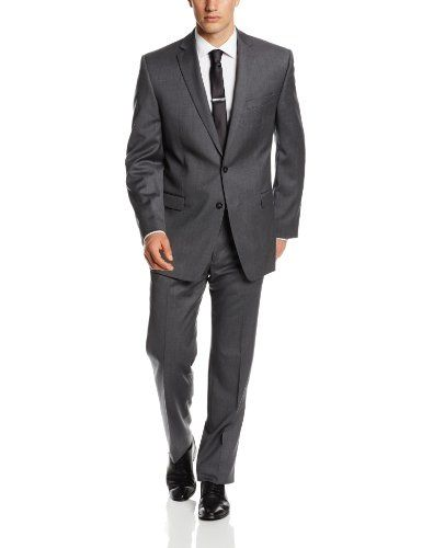 Calvin Klein Men's Malik Slim Fit Suit, Gray, 36 Short Calvin ...
