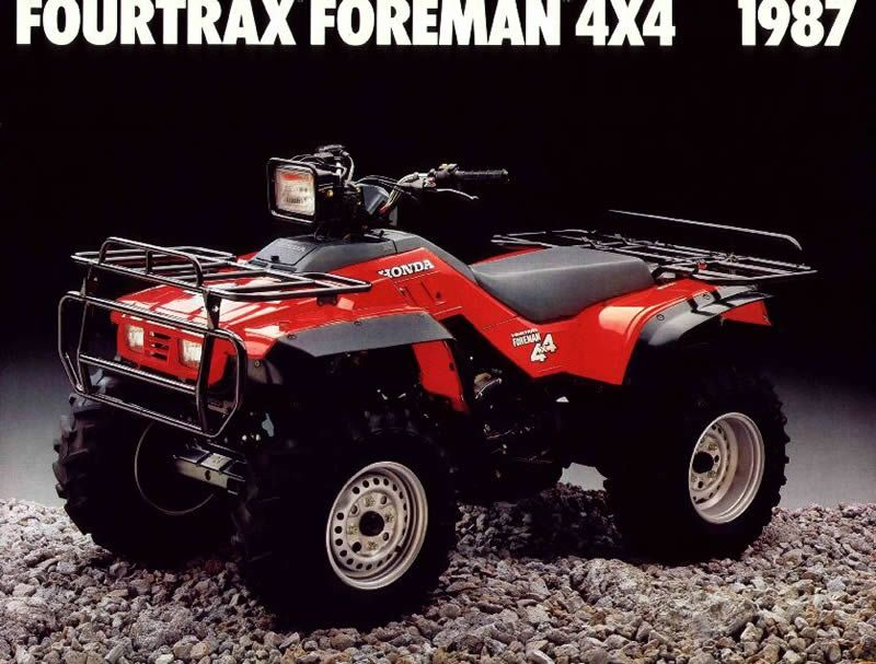 1986 1989 Honda Foreman 350 Trx350 350d Service Repair Manual Documents And Forms Manuals Honda Atv 4x4