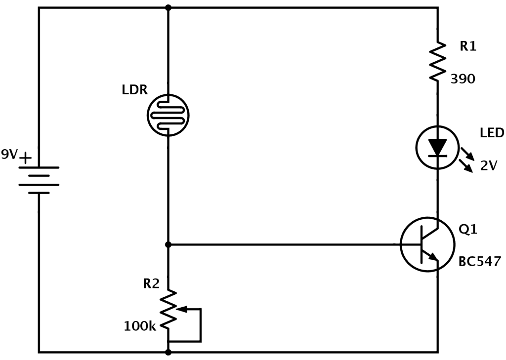 LDR Circuit Diagram | Elektronika | Pinterest | Ldr circuit, Circuit ...