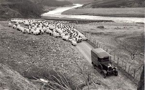 In the Highlands, 1937   First shown in the March 1937 edition of the Post Office magazine, this    picture shows a post office van on its delivery route near Nairn in the    Scottish Highlands.