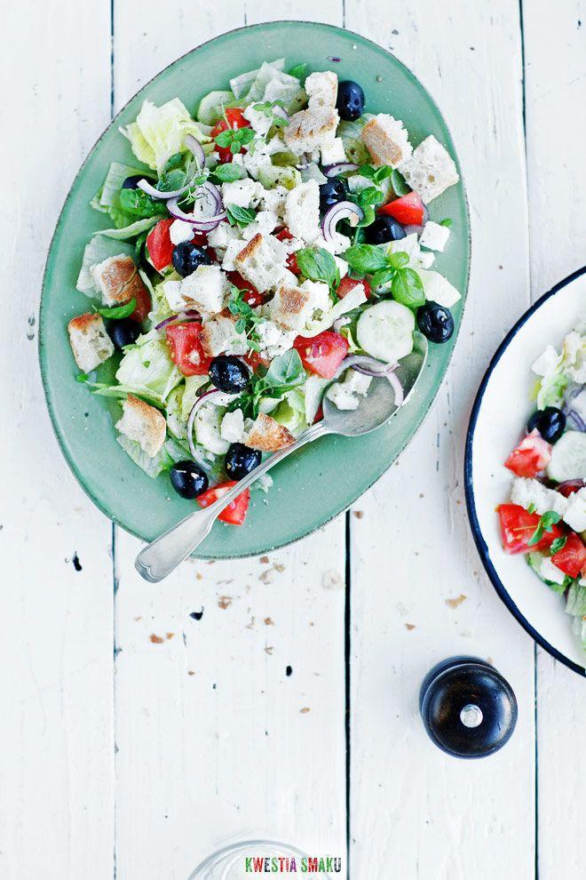 Salatka Grecka Healthy Food Choices Food Salad Recipes