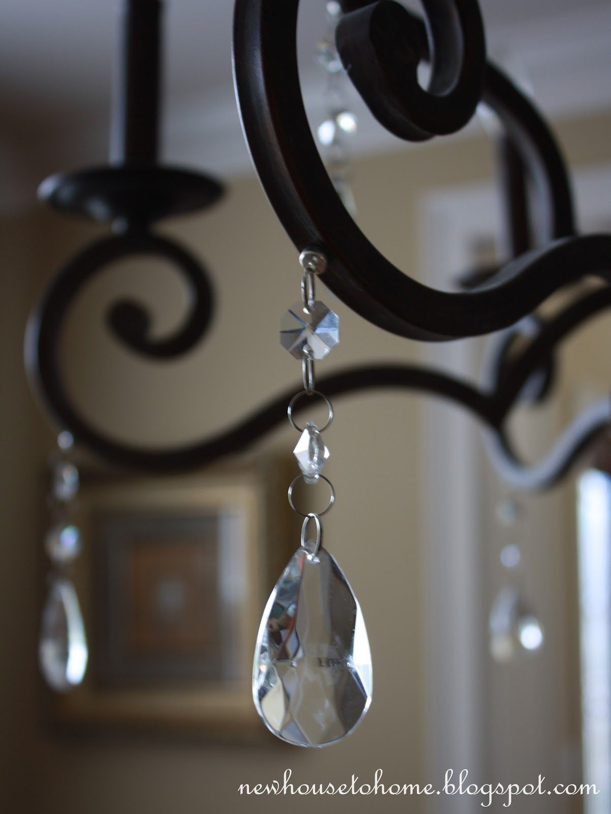 Magnetic Crystals Or Other Holiday Decor Great Idea Projects To - Chandelier crystals magnetic