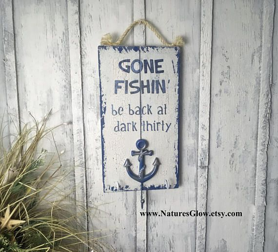 Gone Fishing Signs Decor Gone Fishing Sign Gone Fishing Fishing Gifts For Men  Nature's