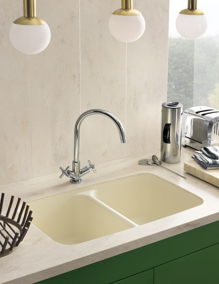 Arbeitsplatte Corian arbeitsplatte corian küche dupont modern weiss doppelwaschbecken