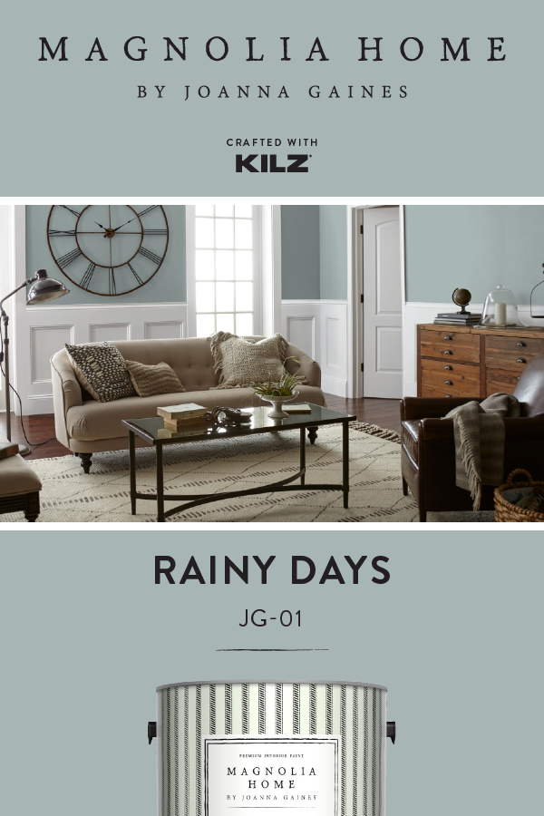 For A Shade That Creates A Calm And Tranquil Feel Try A Fresh Coat Of Rainy Days F Blue Paint Living Room Blue Walls Living Room Paint Colors For Living Room