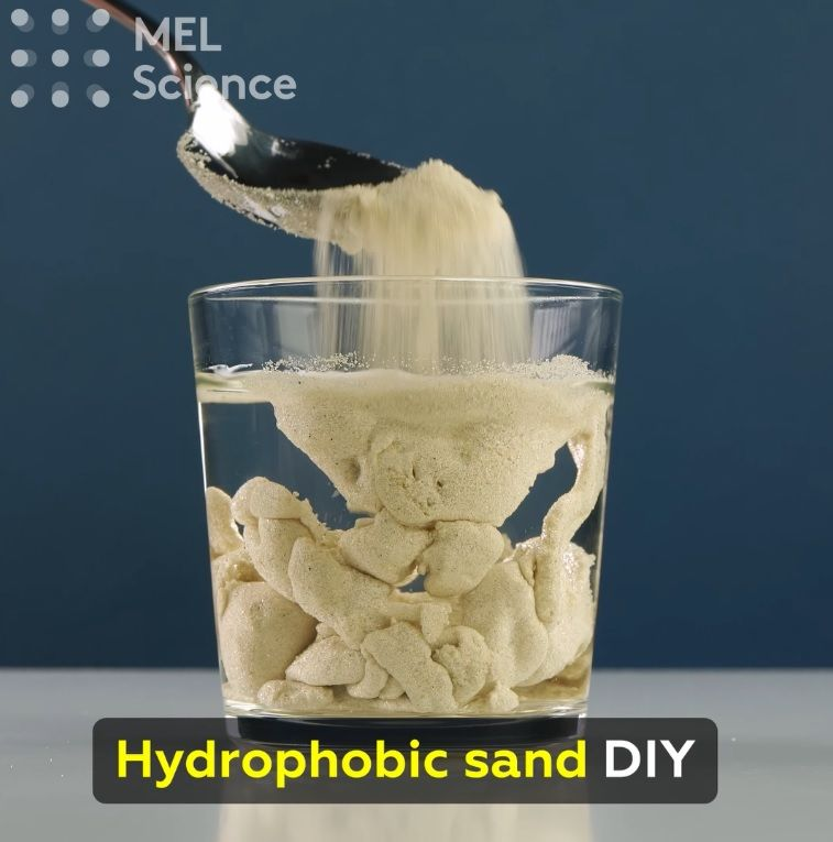 Make your own cool sand that never gets wet! For step-by-step instructions click
