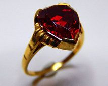 garnet heart ring - Google Search