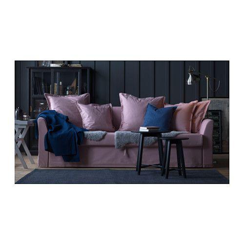 HOLMSUND 3-seters sovesofa - Ransta lys rosa - IKEA