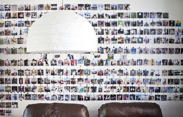 Standleuchten Bogenförmig eine galeriewand voller polaroids u a mit regolit standleuchte