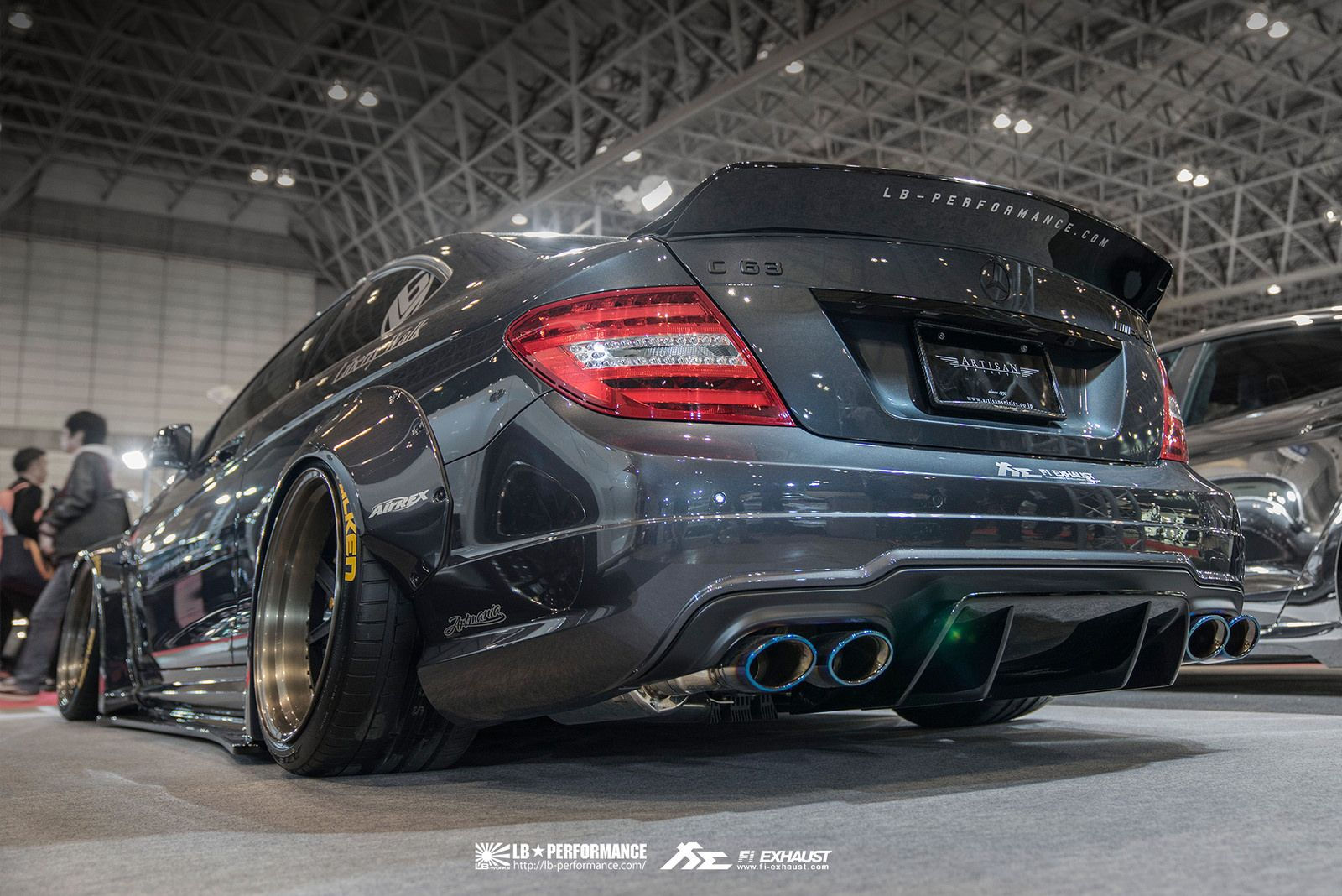 Liberty Walk Mercedes Benz C63 AMG with Fi Exhaust