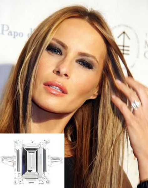 melania trumps engagement ring from donald the most expensive celebrity engagement rings - Melania Trump Wedding Ring