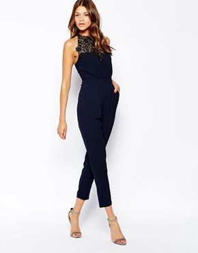 420fdc4dc46 Michelle+Keegan+Loves+Lipsy+Jumpsuit+With+Victoriana+Lace+Neck. Obsessed  with jumpsuits!