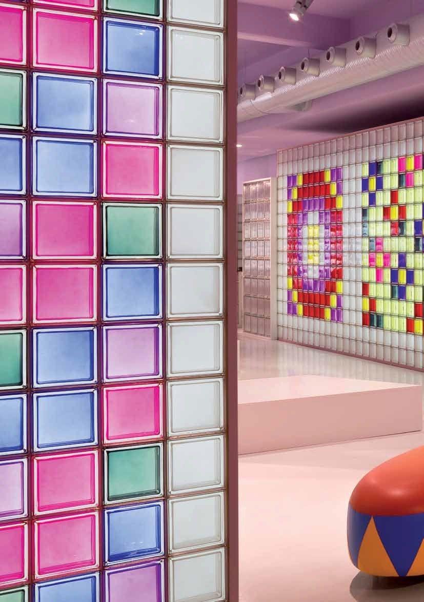 Coloured Glass Block New Colour Seves Divisione Glassblock S