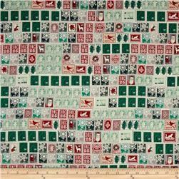 Memento Metallic  Retro Stamps Christmas/Silver