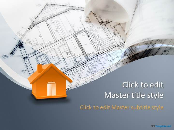 Free Building Design PPT Template - PPT Presentation Backgrounds ...