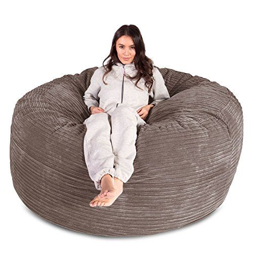 LOUNGE PUG® - Cord - CLOUDSAC - Huge Memory Foam GIANT Bean Bag SOFA ... 69dd9906f97e3