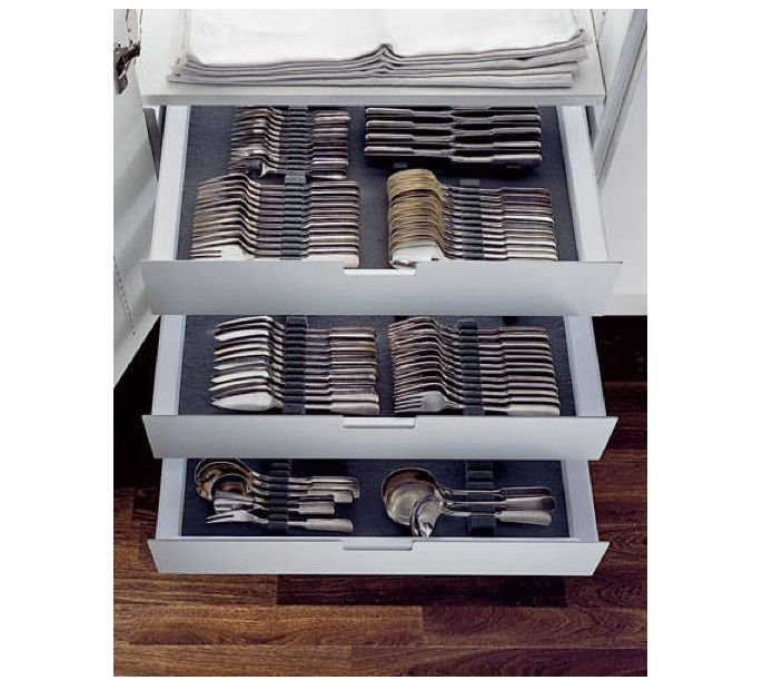 Diy Silverware Drawer Lined With Soft Felt