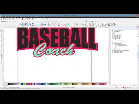 CorelDRAW Video Tip - 2 Color Trapping Setup - YouTube
