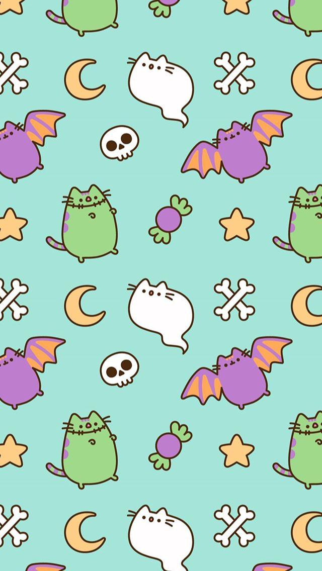 Halloween Fondos Halloween 2019 Brightpinktimbs Pusheen Cute Halloween Wallpaper Pusheen