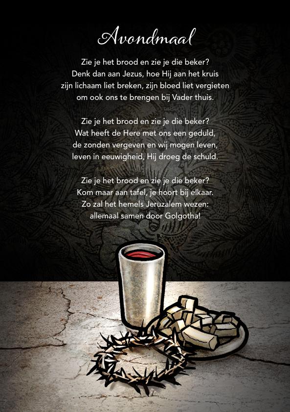 Bijbelcitaten : Avondmaalsgedicht tekst aly dijkhuizen beeld hans