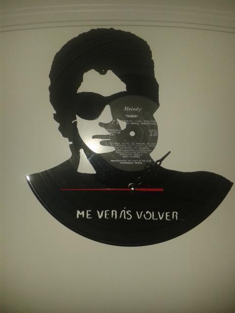 Gustavo Cerati Reloj de pared en disco de vinilo Hecho a mano