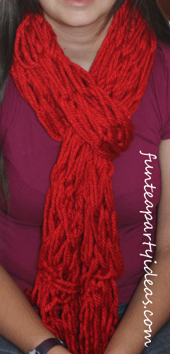 How to Arm Knitting a Scarf - could be a great first project to ...