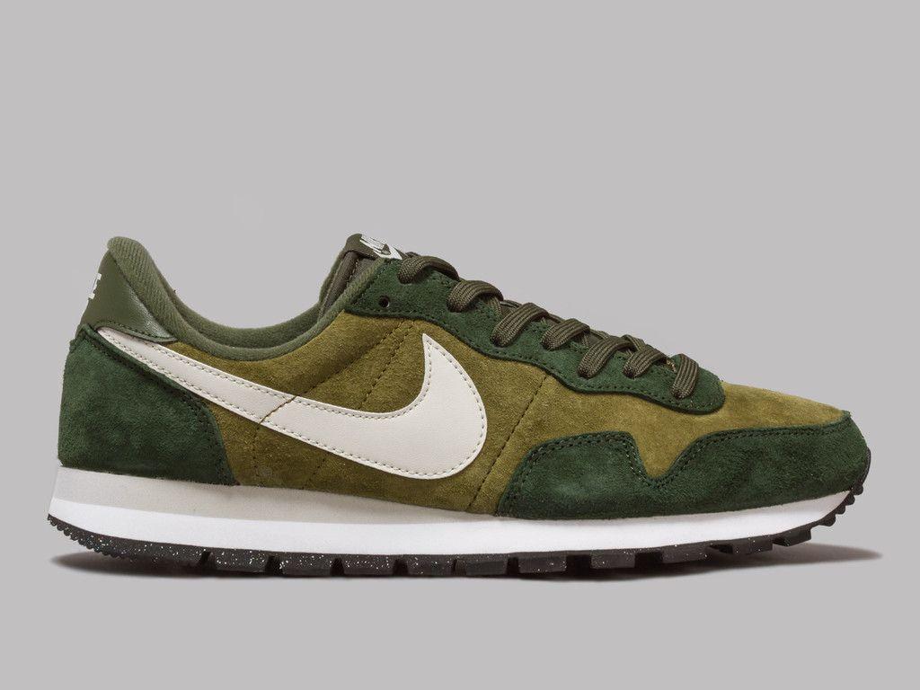 Nike Air Pegasus 83 Leather (Militia Green / Carbon Green / White)