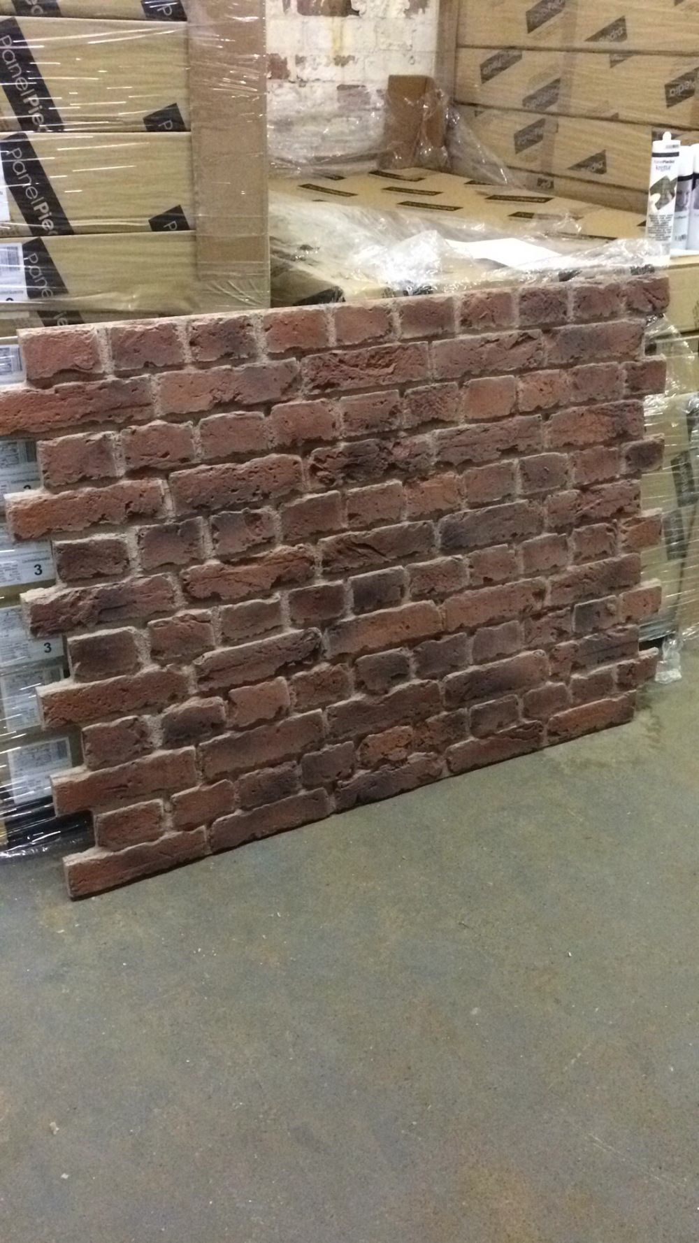Dreamwall Panels On Display In Ikea Cardiff Reading Pr 550 Old Red Brick Faux Brick Panels Faux Brick Wall Panels Faux Brick Walls