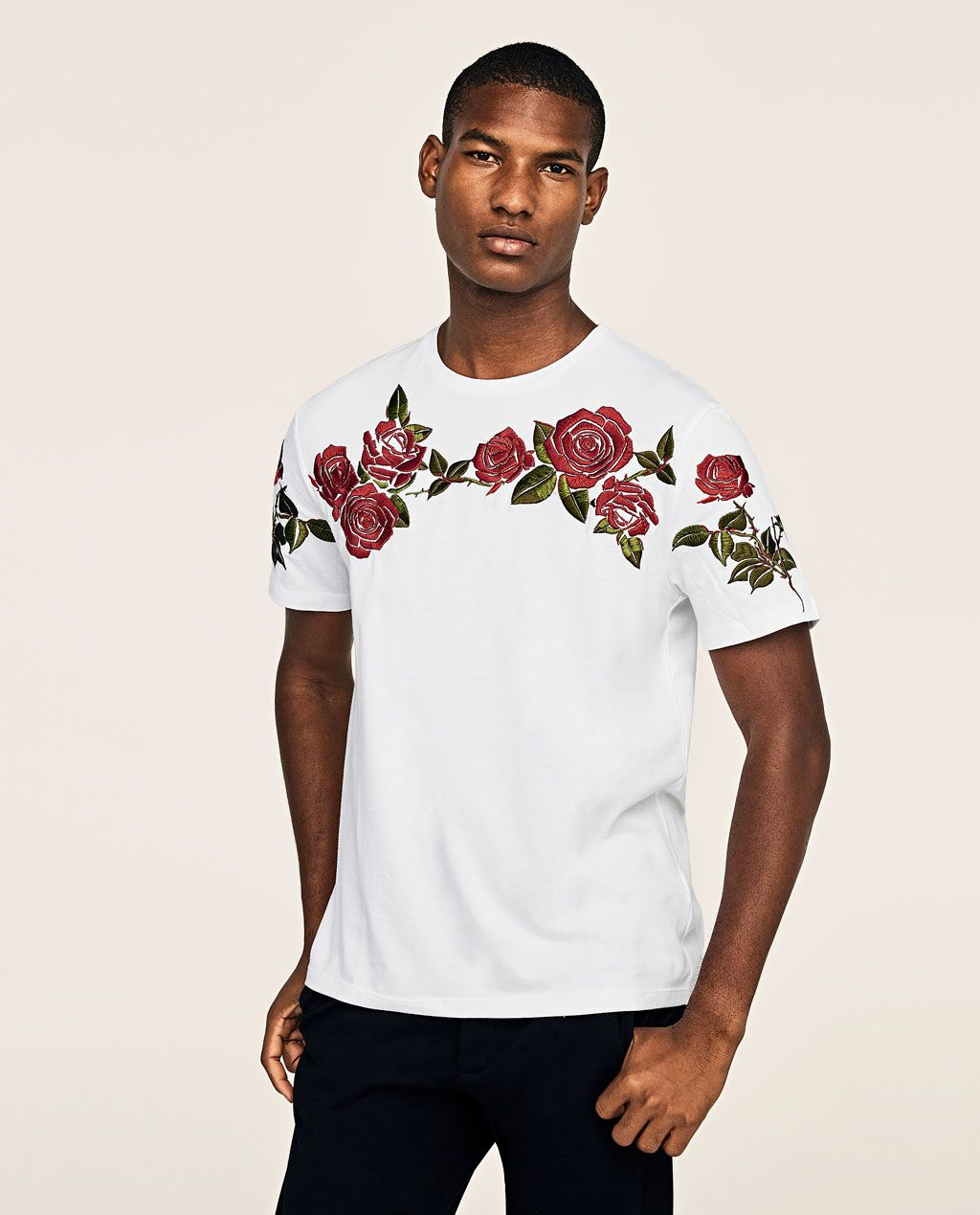 Image 2 of EMBROIDERED ROSES T-SHIRT from Zara  90d0617e96c6e