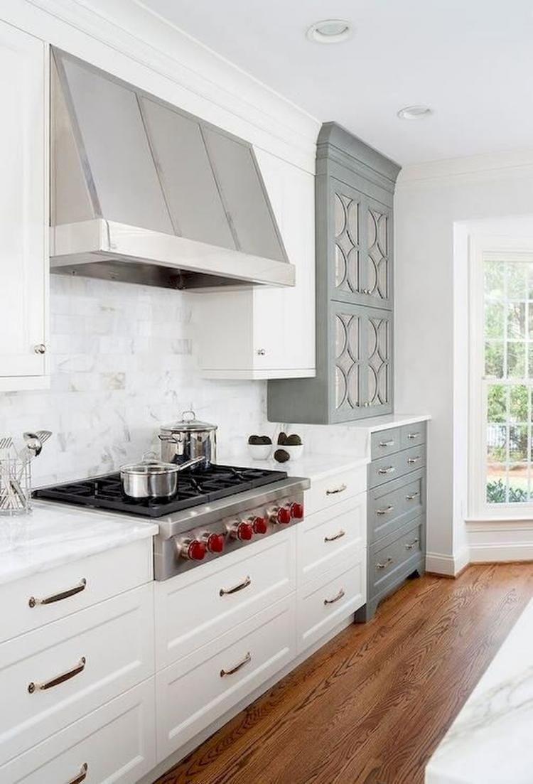 Best Modern Farmhouse Kitchen Cabinet Makeover Design Ideas Mirrored Kitchen Cabinet Kitchen Design Kitchen Remodel