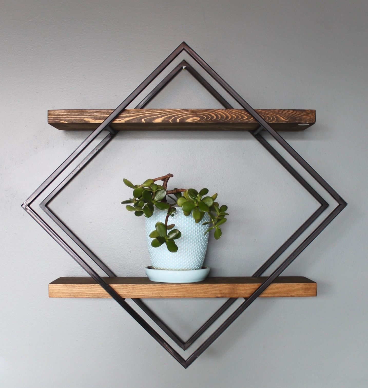 Diamond Shelves Long White Beard Furniture Geometric Shelves Modern Shelving Beautiful Wall Decor