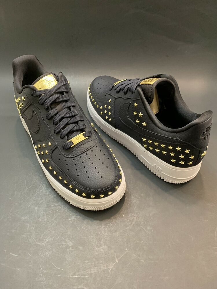the best attitude 34706 5d572 WMNS NIKE AIR FORCE 1 07 XX STAR STUDDED  AR0639 001  OIL GREY SF
