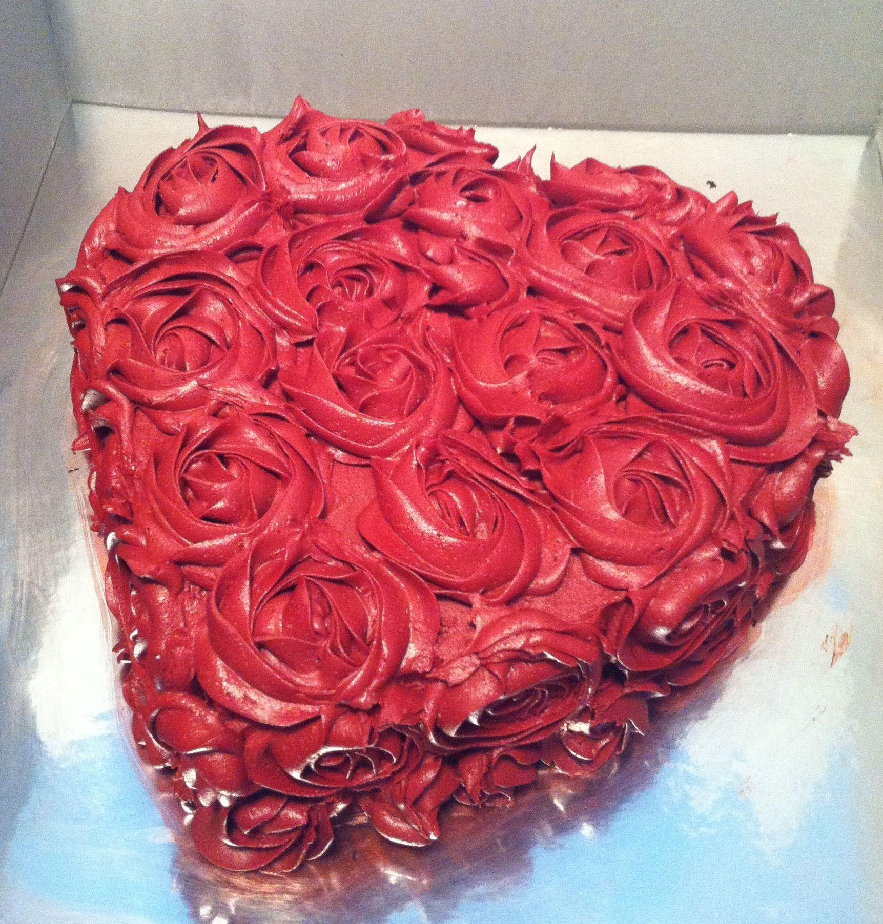 Rose Heart Cake. Cakes Cake Decorating