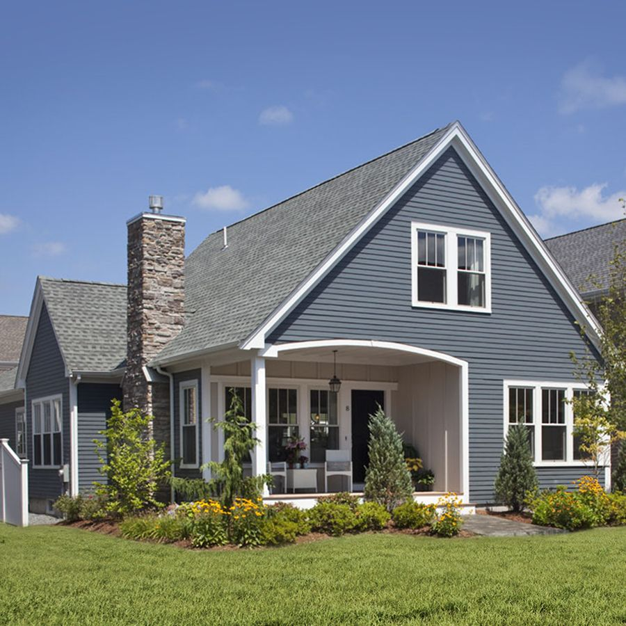 Siding Available At Lowes James Hardie Hardieplank Primed Evening Blue Cedarmill Lap Fiber Cement Siding Panel House Exterior Blue House Siding Hardie Plank