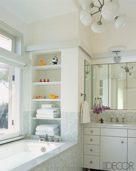 White Tub Bathroom Design