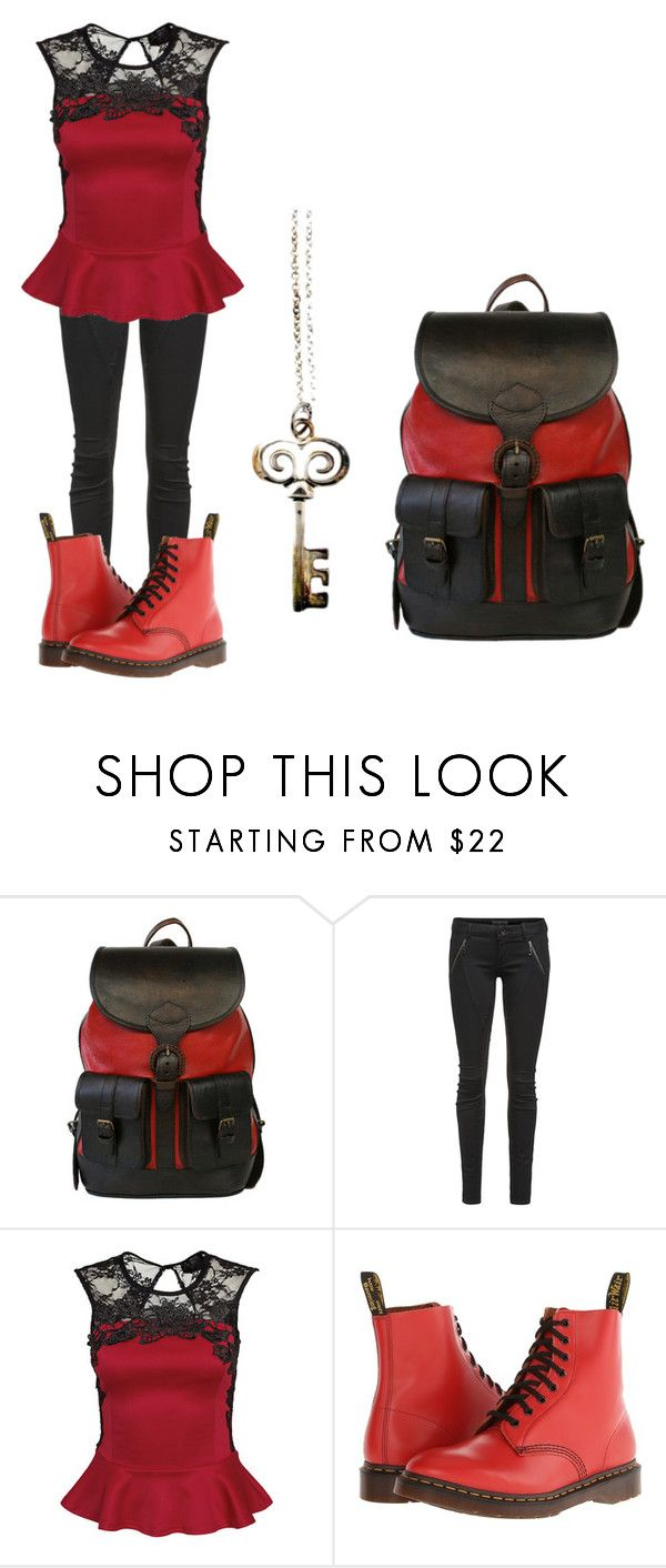 """Jaime day 2"" by rfamilyforevergirl ❤ liked on Polyvore featuring Beara Beara, Letitia, Chicnova Fashion, Dr. Martens and Robert Lee Morris"
