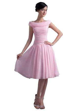 best verkauft scoop kurz rosa chiffon abiballkleid ballkleid  formale abendkleider abendkleid