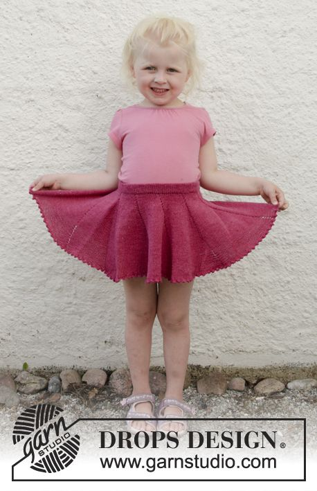 e29a9391e2f7e6 Sweet Curtsy / DROPS Children 28-9 - Knitted skirt in DROPS Fabel. Size  children 2 - 10 years.