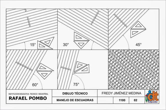 Dibujo Tecnico Grado Decimo Manejo De Instrumentos Disegni Geometrici Disegno Tecnico Geometria