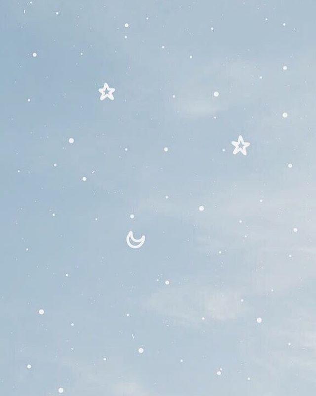 Moon And Stars Wallpaper Moon And Stars Wallpaper Star Wallpaper Baby Blue Wallpaper