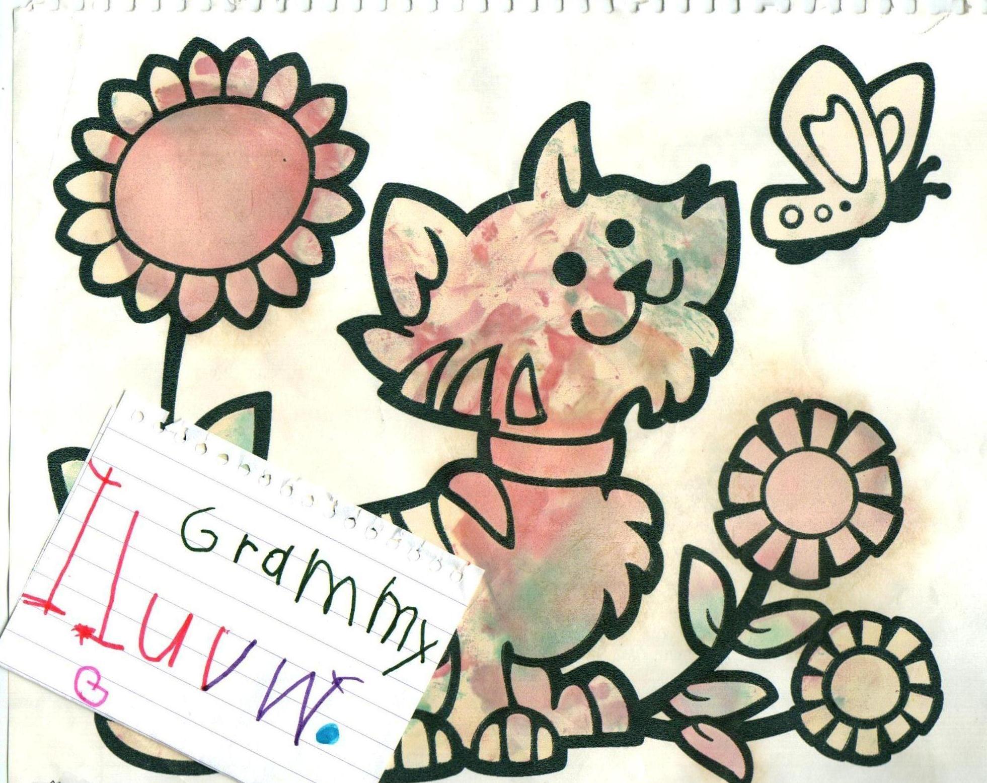 What a cute kitty, what a precious love note.  Thank you.